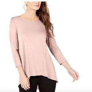 Alfani Womens Pink High-Low Mixed Media Casual Pul
